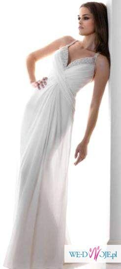 Muślinowa suknia ślubna OKAZJA z GRATISEM
