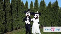 Myszka Mickey i Minnie w strojach ślubnych
