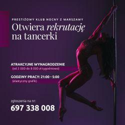 Nabór na tancerki w nowym klubie, Warszawa