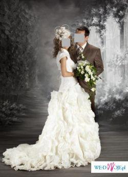 Najladniejsza suknia slubna+halka+welon+bolerko