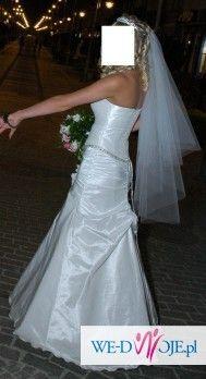 NAJTANIEJ!!! Zgrabna suknia ślubna!