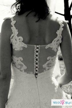 Niebanalna suknia dla bardzo szczupłej Panny Młodej!