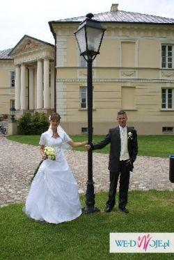 Niedroga suknia ślubna
