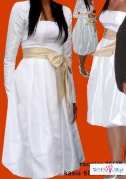 Niepowtarzalna...Inna niż wszytkie... :) Krótka sukienka ślubna typu bombka
