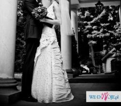 """Niepowtarzalna, pięknie zdobiona suknia ślubna """"Adrianna I"""", rozmiar 36/38"""