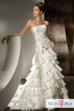 Niepowtarzalna suknia ślubna Lisa Ferrera hiszpanka 2 w 1 + bolerko, halka, itp
