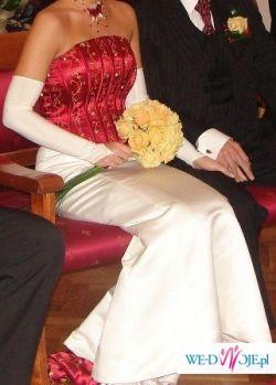 Niepowtarzalna suknia slubna sexi - elegancja
