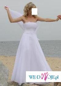 Niesamowita plisowana suknia Agora z organtyny zdobiona svarovskim 34/36