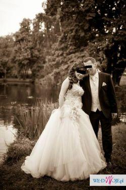 Niesamowita suknia ślubna SPOSA + dodatki 38/40