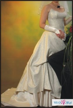 *****NIESPOTYKANA suknia ślubna ecru 38/40*****