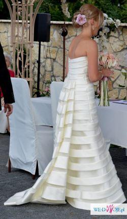Nietypowa, śliczna i bardzo kobieca suknia ślubna 3 w 1 rozmiar 40/42