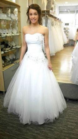Nowa Biała Suknia ślubna Gorset Wiązany 32 34 36 Suknie ślubne