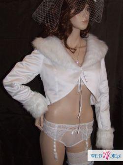 Nowa kurteczka biała do sukni ślubnej rozmiar M