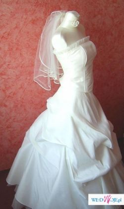 Nowa suknia ecru - SELENA