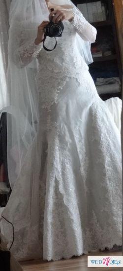 Nowa suknia pronovias koronkowa rybka + bolerko pronovias