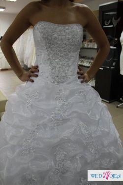 NOWA suknia ślubna biała 38/40 princessa