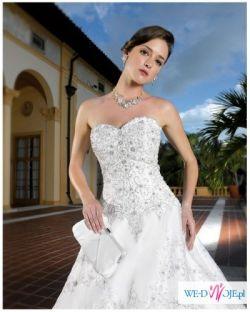 *** NOWA! suknia ślubna Miss Kelly z trenem +welon (WARTOŚĆ: 3340 zł) ***