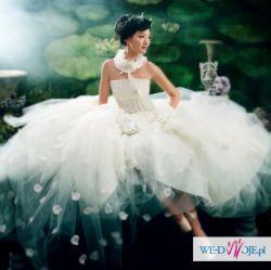 nowa suknia ślubna princessa prześliczna M 38 tiul koronki hafty