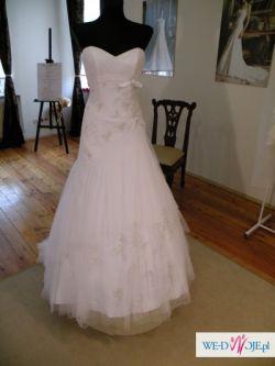 Nowa suknia ślubna Sophia Tolli - koronki, zdobienia Svarowski