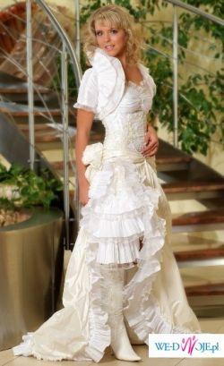 Nowa suknia ślubna z kolekcji Kareen na rok 2009, model 8114 w stylu hiszpańskim