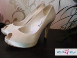 NOWE!!! buty stynowe ecru( ivory) platformy slub wesele