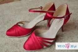 Nowe czerwone buty ślubne - taneczne