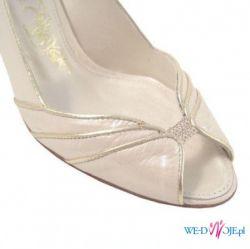 Nowe, piękne, skórzane buty ślubne w rozm. 39