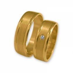 Obrączki złote J095