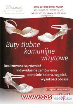 Obuwie ślubne i do komunii www.casani.pl
