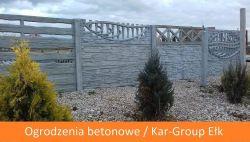 Ogrodzenia betonowe i podmurówka betonowa Kar-Group Ełk