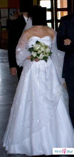 Okazja!!! Piękna dwuczęściowa suknia ślubna z salonu Agnes!!!