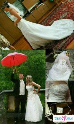 OKAZJA!!! Piękna Suknia Ślubna