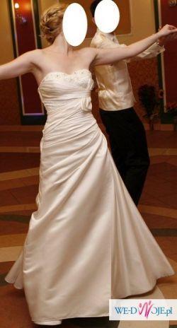 OKAZJA piękna suknia ślubna kolekcja 2010 White One + dodatki (rozm.34/36)