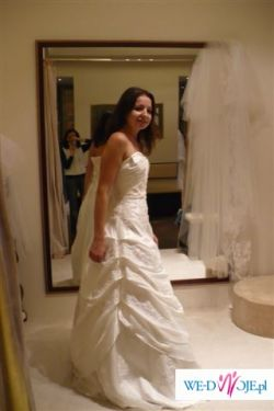 OKAZJA! Piękna suknia ślubna perłowa 36 Madonna