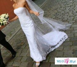 Okazja!!! Piękna suknia ślubna +welon
