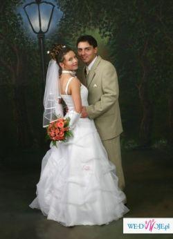 Okazja !!! Śliczna, biała, romantyczna suknia ślubna! Taniutko :)