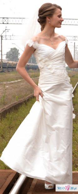 Okazja! Śliczna sukienka ślubna dla drobnej dziewczyny!;)