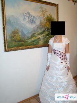 okazja śliczna suknia ślubna 36/38