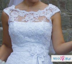 Okazja! Sprzedam piękną koronkową suknie ślubną!