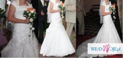 OKAZJA Sprzedam piękną suknie ślubną Z WSZYSTKIMI DODATKAMI ZA 600 ZŁ