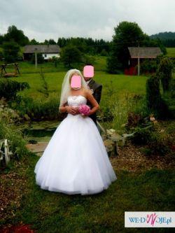 OKAZJA!!! Sprzedam suknie ślubną typu KSIĘŻNICZKA