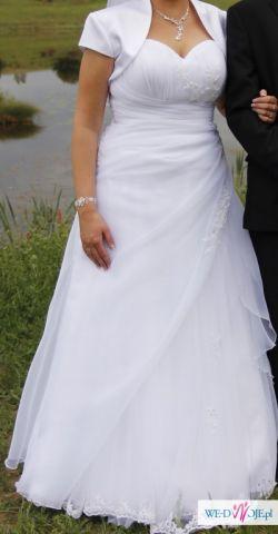 Okazja sprzedam tanio suknię ślubną