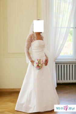 Okazja !!! Sprzedam tanio suknię ślubną+bolerko+halka !!!