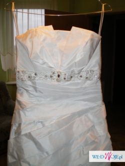 OKAZJA!Suknia ślubna r.36-40+buty,welon i białe róże na samochód
