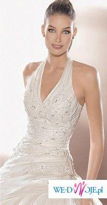 Olśniewająca hiszpańska suknia ślubna z kolekcji Atelier Diagonal Model 1833