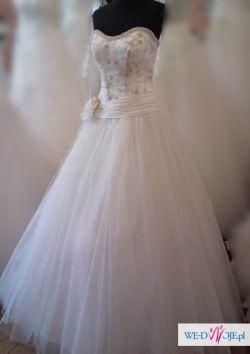 olśniewająca suknia( doskonale kryje okrągły brzuszek)