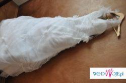Orginalna biała sukienka ślubna dla nietypowej Panny młodej:)