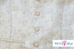 Oryginalna biała kamizelka ślubna
