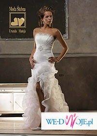 Oryginalna biała suknia ślubna