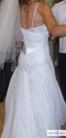 oryginalna, elegancka suknia ślubna